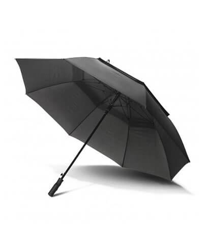 116491 Swiss Peak Tornado Storm Umbrella - Black