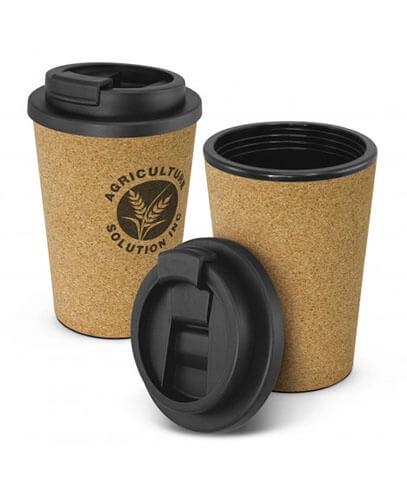 117845 Oakridge Double Wall Cup - Cork with Black Lid