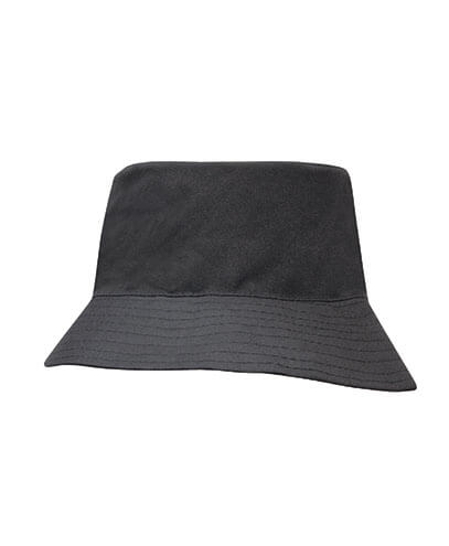3940 Youth Breathable Poly Twill Bucket Hat - Black