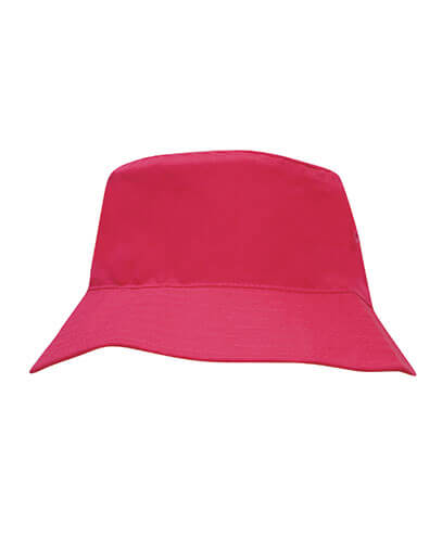 3940 Youth Breathable Poly Twill Bucket Hat - Hot Pink