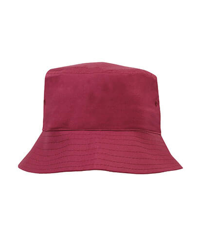 3940 Youth Breathable Poly Twill Bucket Hat - Maroon