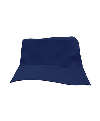 3940 Youth Breathable Poly Twill Bucket Hat - Navy