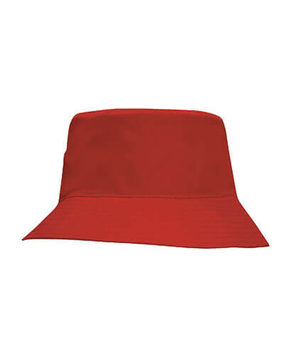 3940 Youth Breathable Poly Twill Bucket Hat - Red