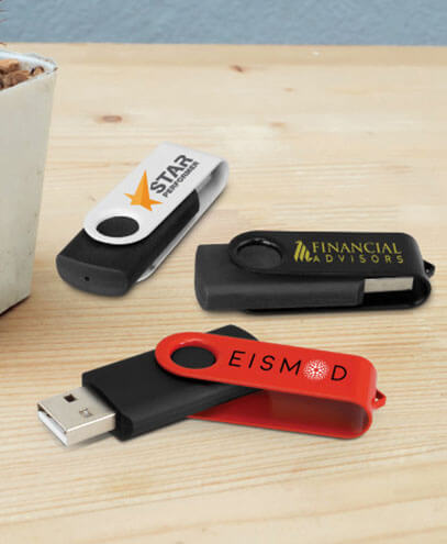 105604 Helix 4GB Mix & Match Flash Drive - Printed Examples