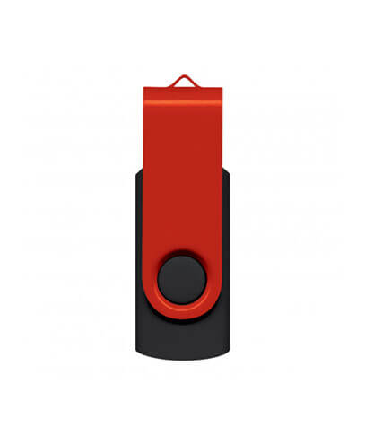 105604 Helix 4GB Mix & Match Flash Drive - Red