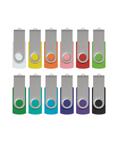 105604 Helix 4GB Mix & Match Flash Drive - Silver Clips