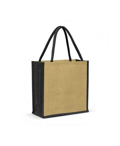 108037 Monza Jute Tote Bag - Black