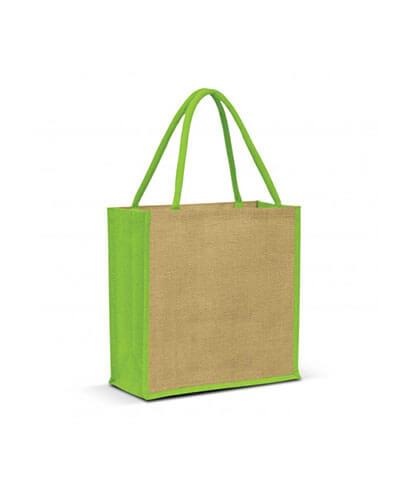 108037 Monza Jute Tote Bag - Light Green