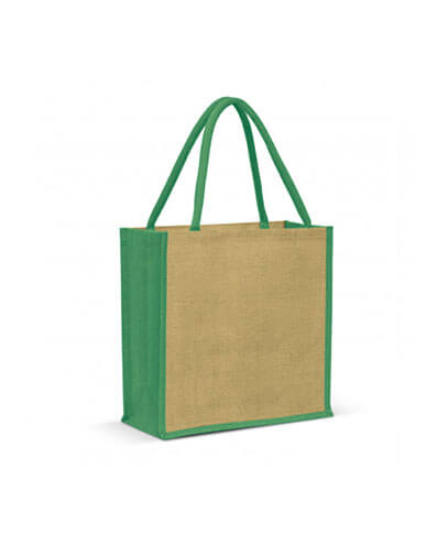 108037 Monza Jute Tote Bag - Green