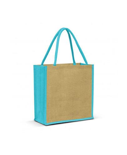 108037 Monza Jute Tote Bag - Light Blue