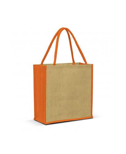 108037 Monza Jute Tote Bag - Orange