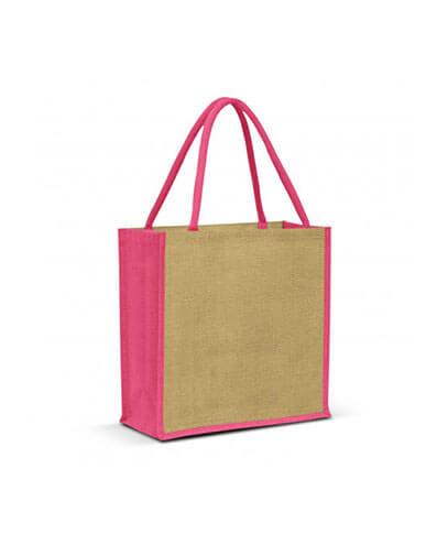 108037 Monza Jute Tote Bag - Pink