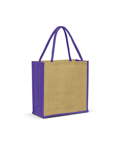 108037 Monza Jute Tote Bag - Purple