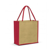 108037 Monza Jute Tote Bag - Red