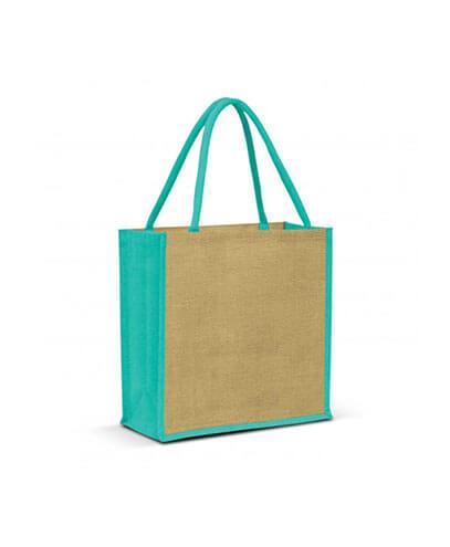 108037 Monza Jute Tote Bag - Teal