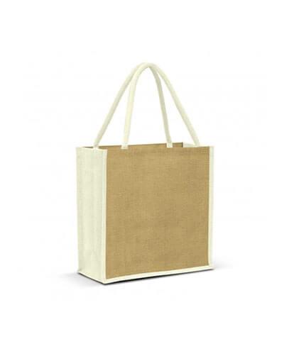 108037 Monza Jute Tote Bag - White
