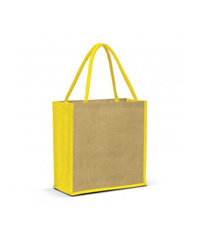 108037 Monza Jute Tote Bag - Yellow