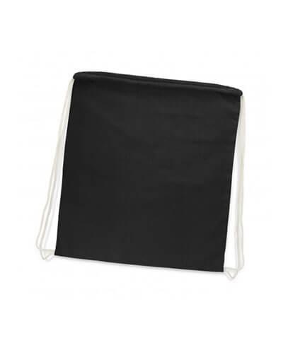 111804 Cotton Drawstring Backpack - Black