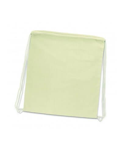 111804 Cotton Drawstring Backpack - Natural