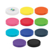 112656 Orbit Wireless Charger - All Colours with a Printed Example on White