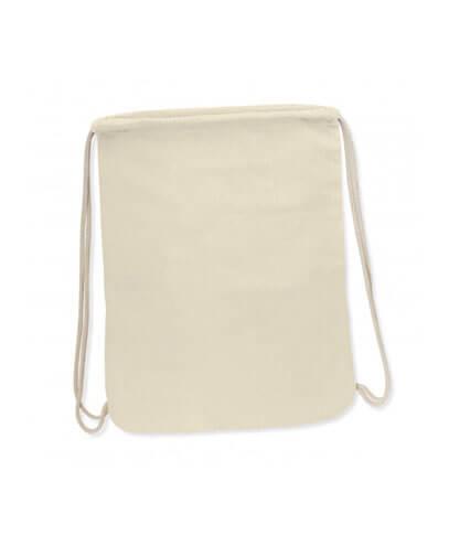 112909 Durban Full Colour Cotton Drawstring Backpack- Natural