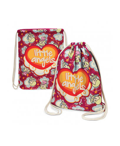 Durban Full Colour Cotton Drawstring Backpack- Printed Example