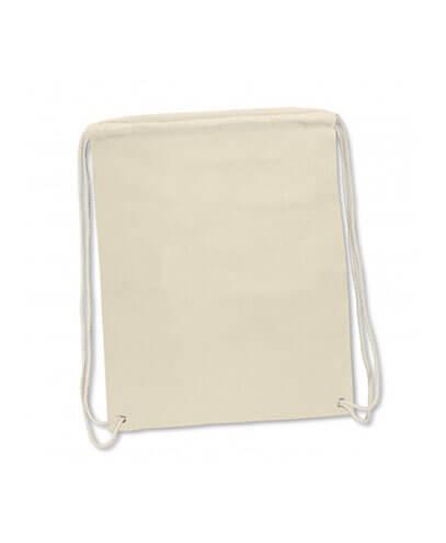 Brazil Full Colour Cotton Drawstring Backpack- Natural