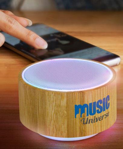116648 Bamboo Bluetooth Speaker - Light Example