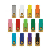 117042 Helix 4GB Bamboo Flash Drive - All Colours