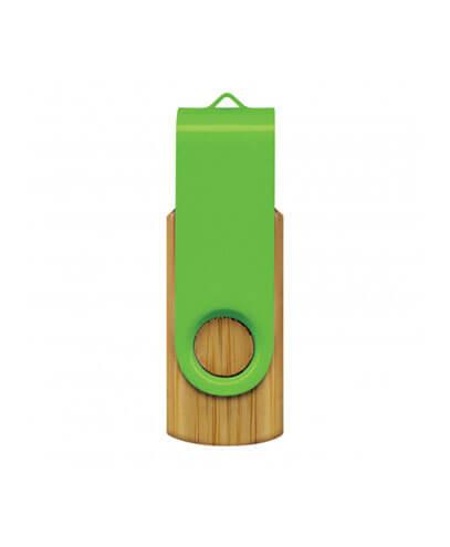 117042 Helix 4GB Bamboo Flash Drive - Bright Green