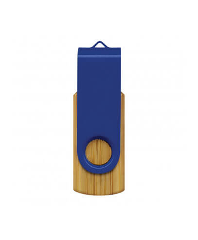 117042 Helix 4GB Bamboo Flash Drive - Dark Blue