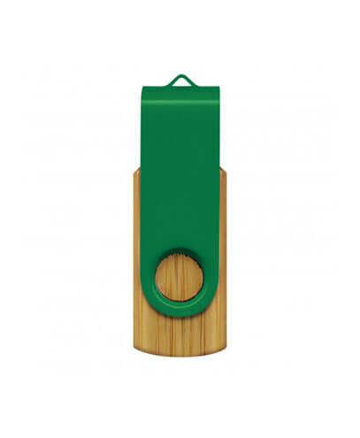 117042 Helix 4GB Bamboo Flash Drive - Green