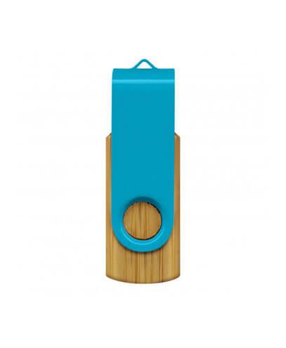 117042 Helix 4GB Bamboo Flash Drive - Light Blue