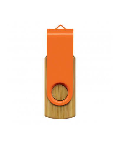 117042 Helix 4GB Bamboo Flash Drive - Orange