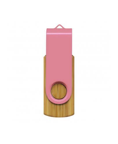 117042 Helix 4GB Bamboo Flash Drive - Pink