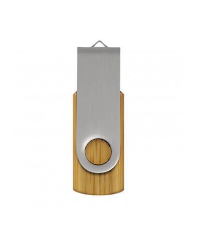 117042 Helix 4GB Bamboo Flash Drive - Silver