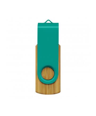 117042 Helix 4GB Bamboo Flash Drive - Teal