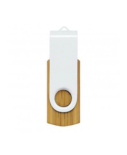117042 Helix 4GB Bamboo Flash Drive - White