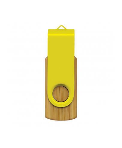 117042 Helix 4GB Bamboo Flash Drive - Yellow
