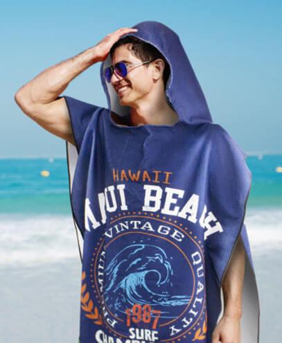 117466 Adult Hooded Towel - Worn by Male Model