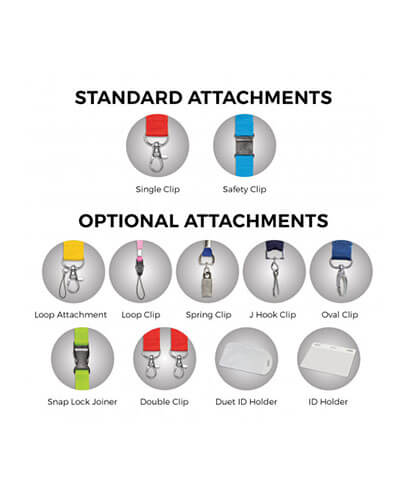 105804 Colour Max Lanyard - Attachment Options