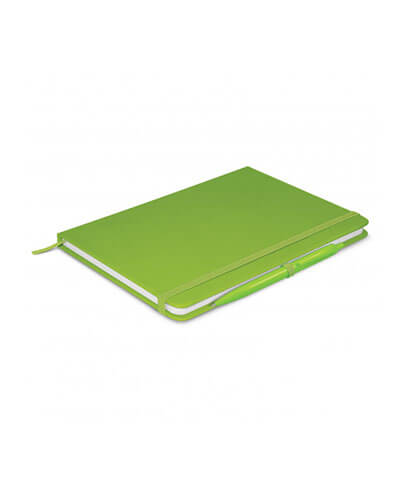 108827 Omega Notebook With Pen - Bright Green