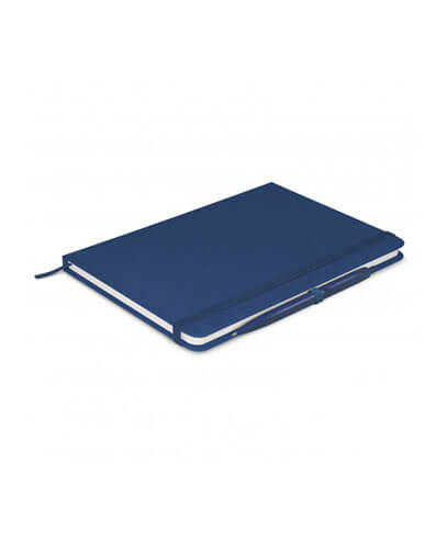 108827 Omega Notebook With Pen - Dark Blue
