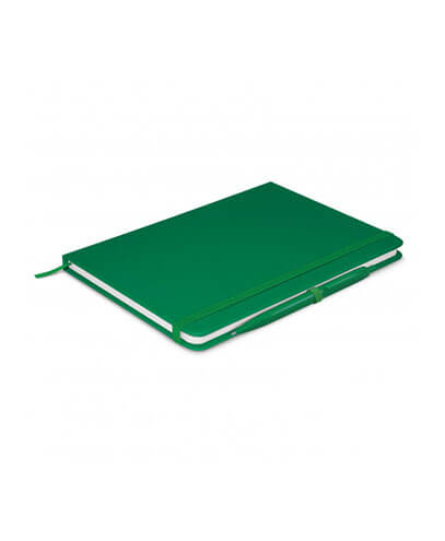 108827 Omega Notebook With Pen - Dark Green