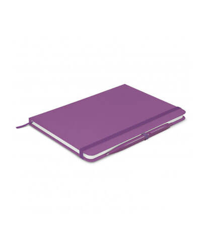 108827 Omega Notebook With Pen - Purple