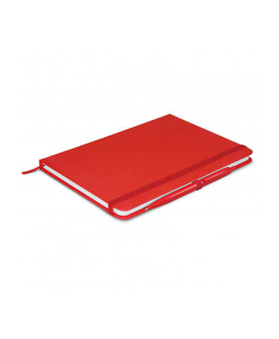 108827 Omega Notebook With Pen - Red