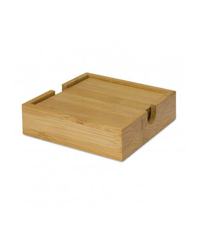 112030 Bamboo Coasters - In Box