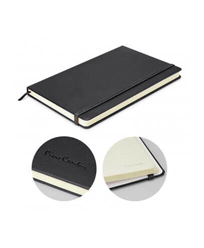 113319 Pierre Cardin Medium Notebook - Black