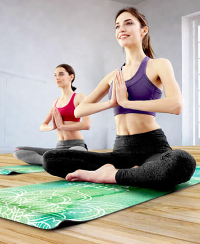 116474 Mantra Yoga Mat - In Use